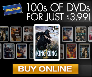 Get 100s of DVDs for just $3.99 at BLOCKBUSTER