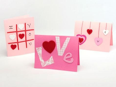 party craft - make a valentine for your loved one...these are cute :)