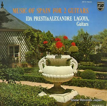 PRESTI, IDA & ALEXANDRE LAGOYA music of spain for 2 guitars