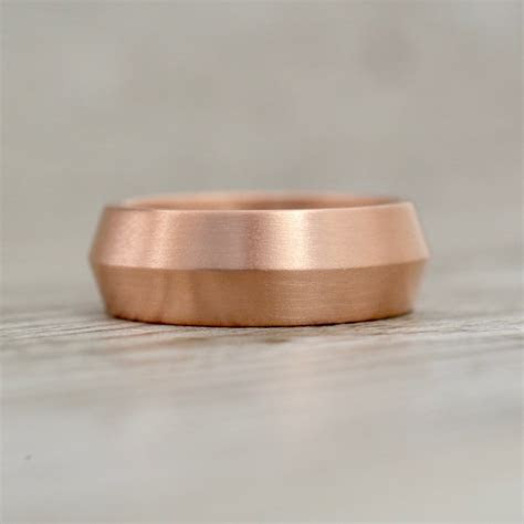 8mm Knife Edge Comfort Fit Satin Finish Wedding Band in Rose