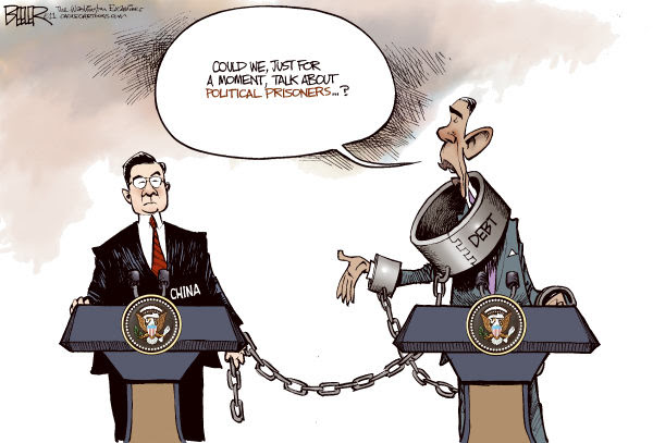 Image result for obama disrespected by china cartoons