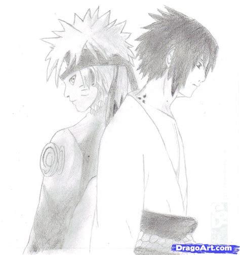 draw naruto  sasuke step  step naruto