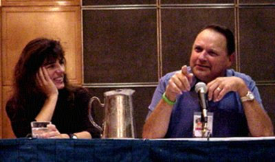 Mira Furlan and Stephen Furst