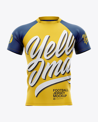 Download Free Men's Football Jersey Mockup - Front View (PSD)