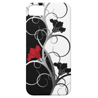 Black/White Flowers iPhone 5 Case