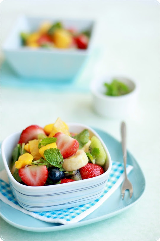 Fruit Salad With Mint & Grand Marnier
