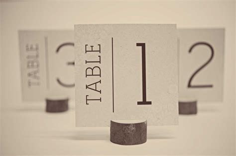 Free Wedding Table Number Cards