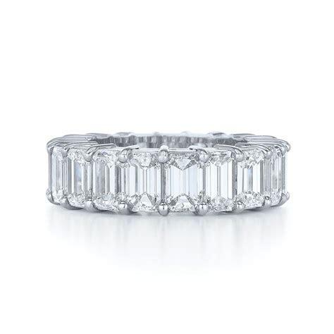 Emerald Cut Diamond Wedding Ring Emerald cut eternity band