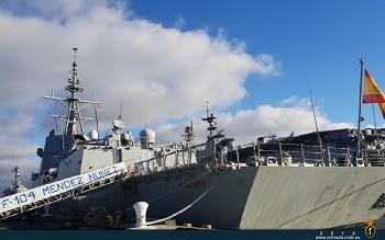 """La fragata """"Méndez Núñez"""" recala en la Base Naval de Norfolk"""