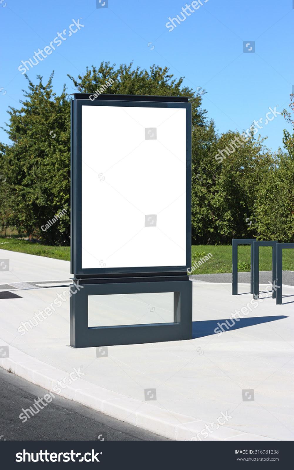 Blank Outdoor Billboard France Mockup Template Stock Photo ...