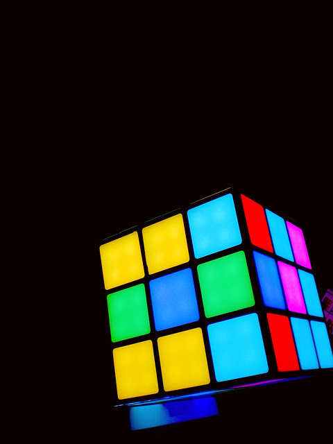 Electronic rubik cube