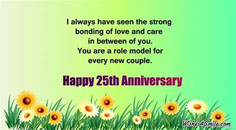 25th Anniversary Wishes for Uncle and Aunty   Wishes4Smile