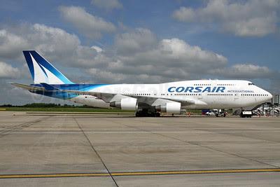 Corsair International Boeing 747-422 F-HSEA (msn 26877) STN (Pedro Pics). Image: 912398.