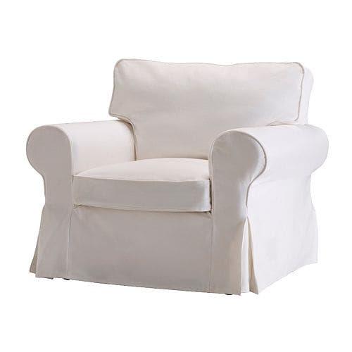 EKTORP Lepotuoli, Blekinge valkoinen Leveys: 105 cm Syvyys: 90 cm Korkeus: 88 cm Istuimen leveys: 57 cm Istuimen syvyys: 50 cm Istuinkorkeus: 45 cm
