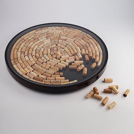 Wine Cork Lazy Susan Kit Espresso Finish 167 25 Good Wine Coolers