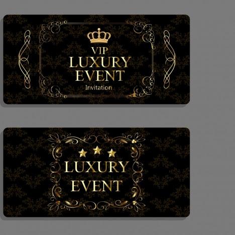 Luxury Event Invitation Cards Dark Elegant Design Vectors Stock In Format For Free Download 5 41mb