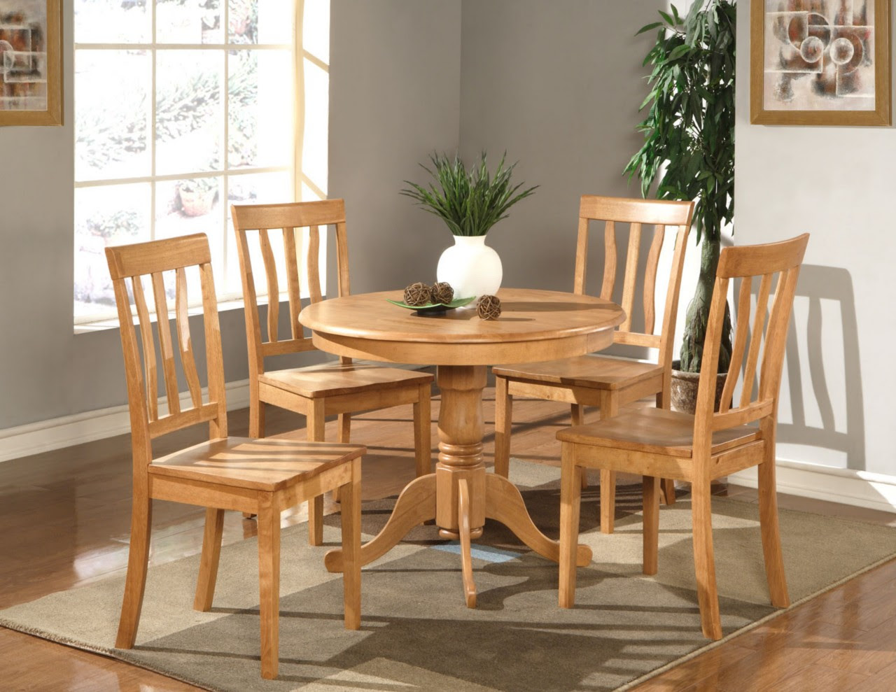 Oak Wood Kitchen Table And Chairs