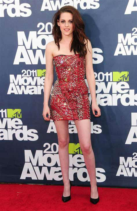 Kristen Stewart appears at the 2011 MTV Movie Awards in Los Angeles, California on June 9, 2011.