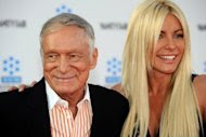 Hugh Hefner's 25-year-old former fiancee Crystal Harris (pictured) took a parting shot at the Playboy founder, saying she had never been turned on by him and they only had sex once