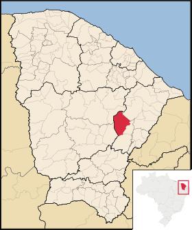 Localização de Jaguaretama