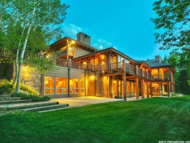 Exterior of Huntsman's Park City Home