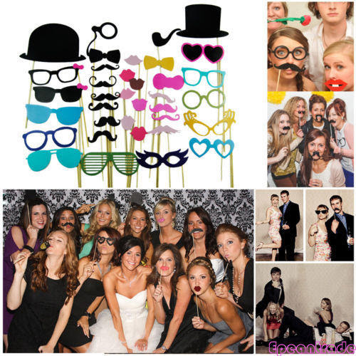Diy Photo Booth Props Mustache On A Stick For Wedding Birthday