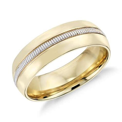 Colin Cowie Men's Milgrain Inlay Wedding Ring in 18k