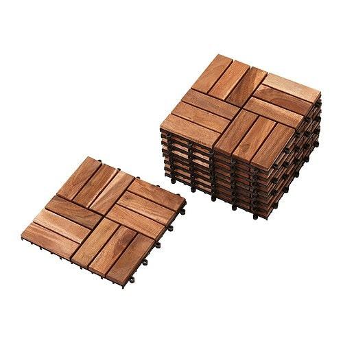PLATTA Trall IKEA Golvtrall; ett snabbt och enkelt sätt att uppdatera utomhus som på terrass eller balkong.