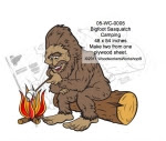 Bigfoot Sasquatch Camping Yard Art Woodworking Pattern - fee plans from WoodworkersWorkshop® Online Store - bigfoot,sasquatch,yeti,camping,fires,marshmallows,yard art,painting wood crafts,scrollsawing patterns,drawings,plywood,plywoodworking plans,woodworkers projects,workshop blueprints