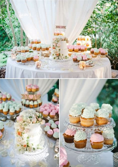 Elegant Garden Glam Wedding   Wedding Cake Table Ideas