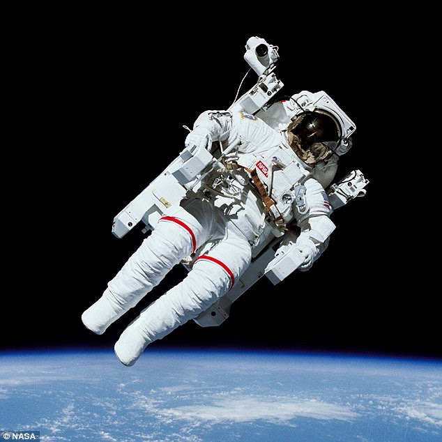 While the effects on the immune system were known before, the study says its methods could be used to develop a solution for missions to Mars to help astronauts who have to operate in microgravity for a long time. Pictured is Bruce McCandless II performing a free-flying spacewalk in 1984