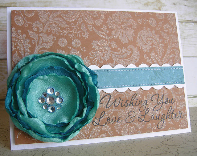 Love and Laughter Card with Brooch