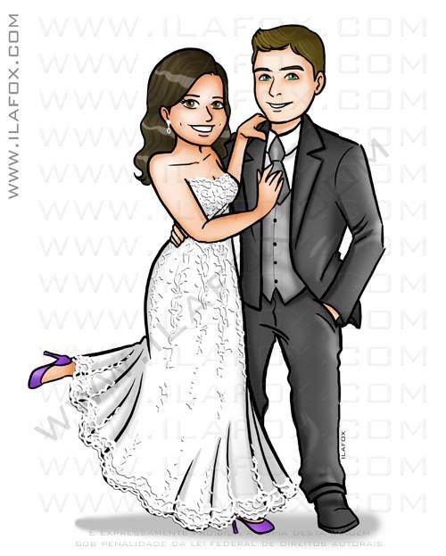 caricatura casal, caricatura noivinhos, caricatur bonita, caricatura para casamentos, by ila fox