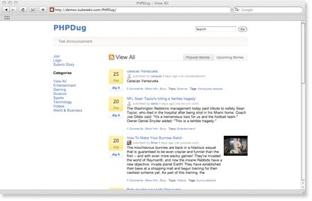 phpdug 6 Free Digg Clones Scripts