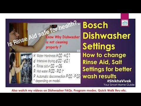Bosch Dishwasher Settings Explained