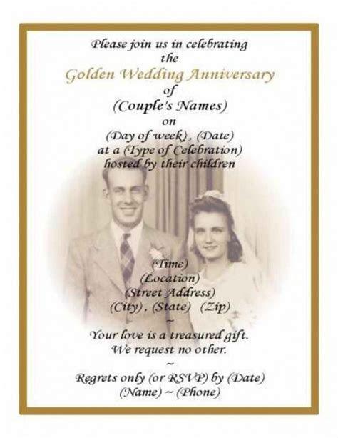 50th Wedding Anniversary Program Wording     50th