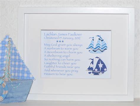 Sailing Boats Naming Day Christening New Baby Baptism