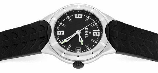 Foto 1, Ebel E-Type Senior Uhr Etype Stahl Kautschuk Ungetragen, U1687