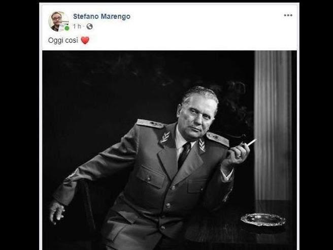 SEGRETARIO PD FESTEGGIA LE FOIBE CON FOTO TITO