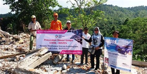 komunitas peduli kemanusiaan banten ikut membantu korban