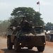 A French armored vehicle patrolled Bangui, capital of the Central African Republic, on Wednesday.