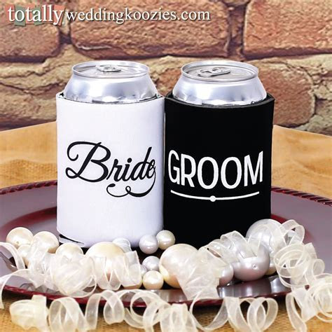 You will receive a FREE bride & groom can cooler with