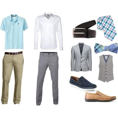 """Men's Casual Summer Wedding Attire"" In blue, grey, and"
