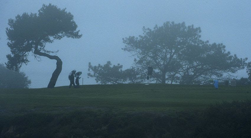 Perfect golf weather at Torrey Pines