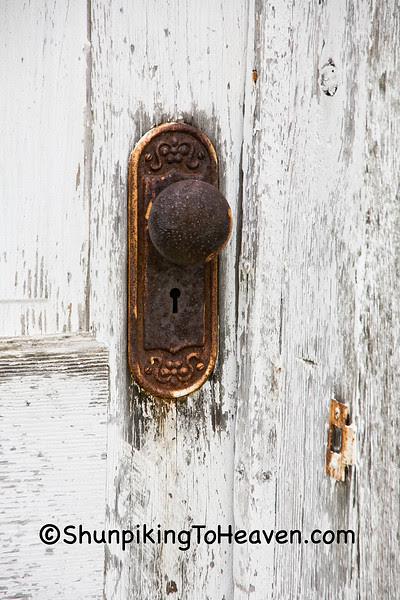 Doorknob at Amber Mutual Creamery Co., Jones County, Iowa