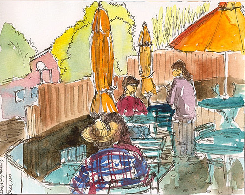 Outdoor eats at Graham's Grille, Taos, NM