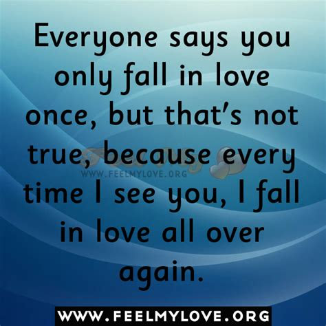 Falling Love You All Over Again Quotes