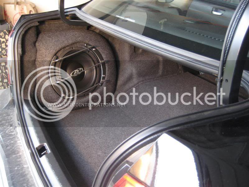 08+ Subaru Wrx Fiberglass Subwoofer Enclosure