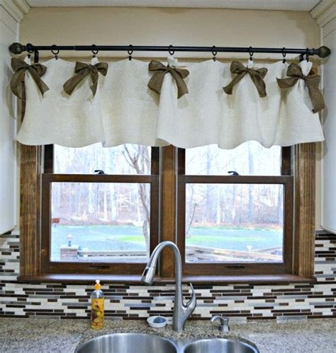 easy affordable diy kitchen window valances window diy