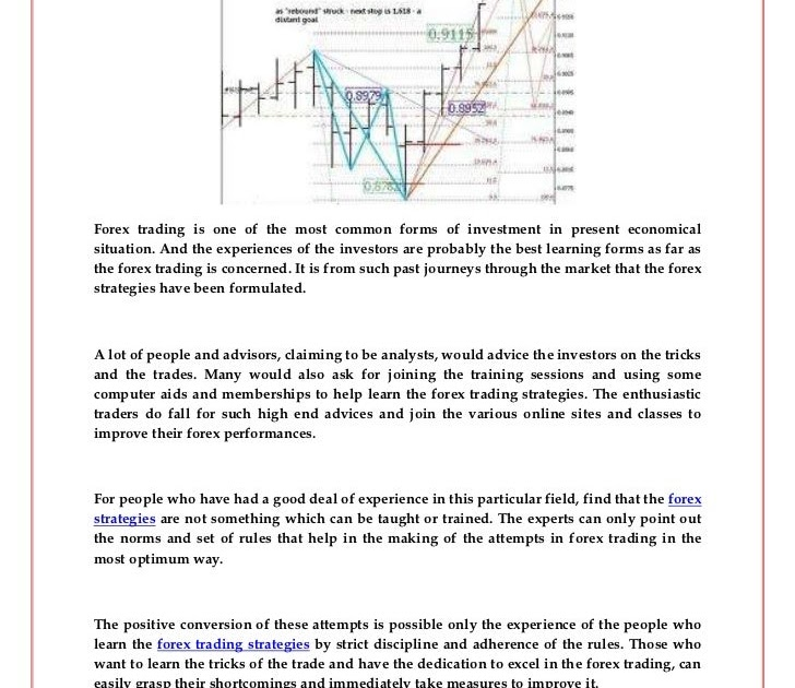 The best and most common Forex trading strategies for consistent profits